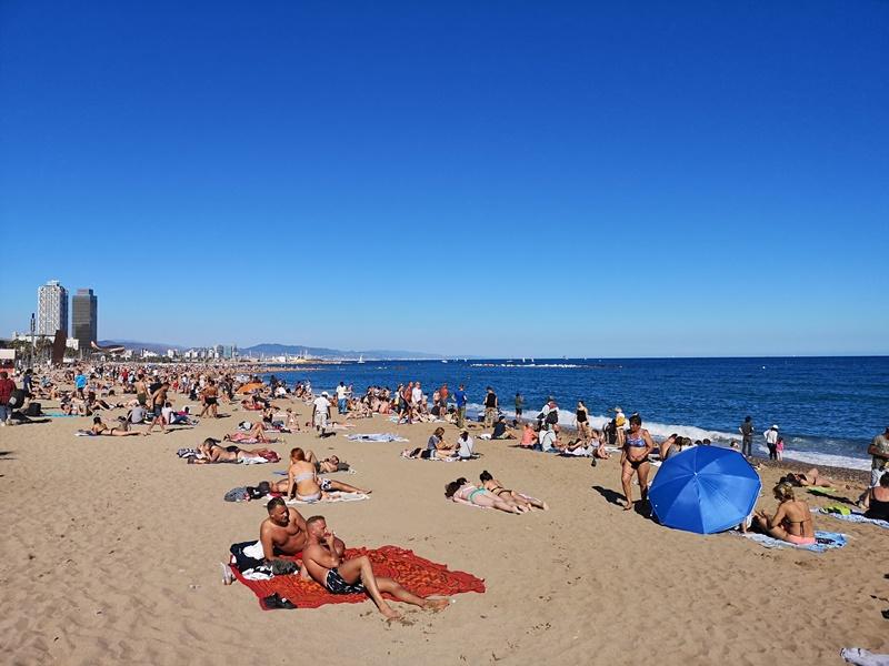barcelonabeach09 Barcelona-嗨!地中海你好!! 巴塞隆納海岸Platja de la Barceloneta 海天一線超美