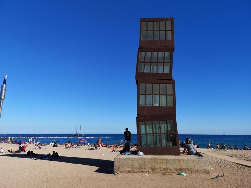 barcelonabeach13 Barcelona-嗨!地中海你好!! 巴塞隆納海岸Platja de la Barceloneta 海天一線超美