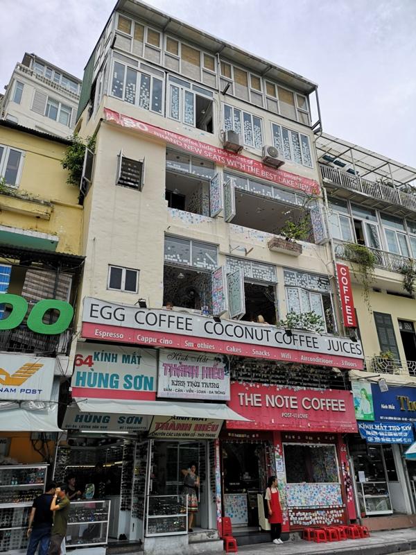 thenotecoffee01 Hanoi-河內The Note Coffee環劍湖旁 滿滿便利貼的人氣咖啡館 小巧溫馨