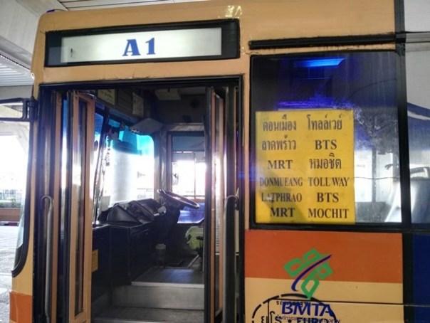 A106 Bangkok-DMK機場巴士A1/A2 便宜快速 接BTS/MRT往返市區DMK廊曼機場