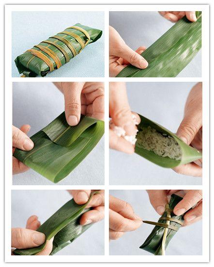 長方形粽子的包法步驟(圖解)_美食制作_天下美食_食品科技網
