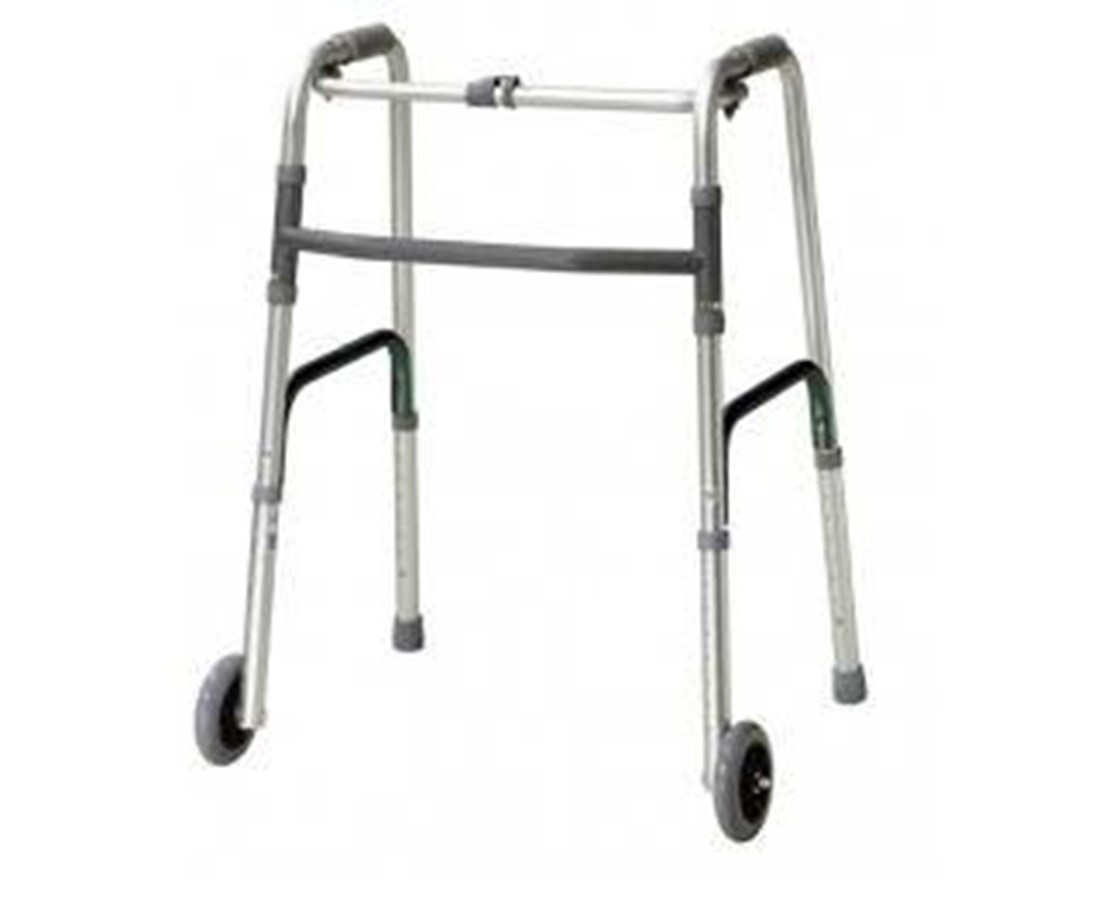 Drive Deluxe One Button Folding Walker With
