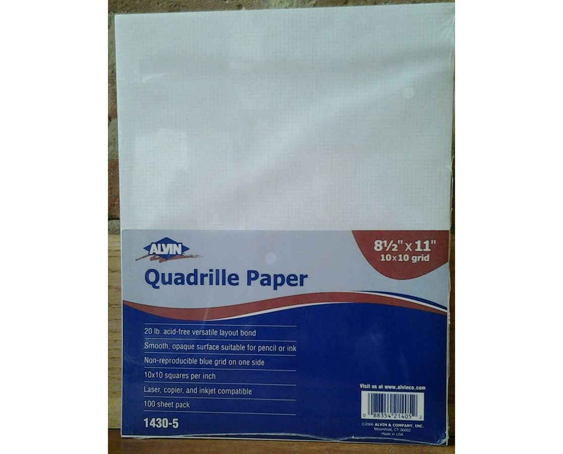 Alvin Quadrille Paper With 10 X 10 Grid Qty 100 Sheets Tiger Supplies