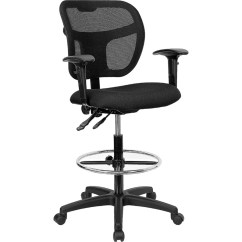 Drafting Chairs With Arms Space Saving Flash Furniture Mesh Chair Wl A7671syg