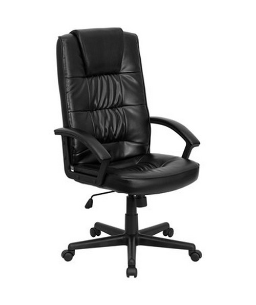 black leather office chair high back orange swivel flash furniture executive go 7102 gg flfgo