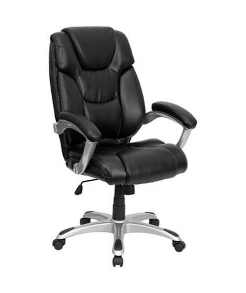 black leather office chair high back orange flash furniture executive go 931h bk gg