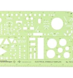 alvin electrical symbols template td1515 [ 1116 x 900 Pixel ]