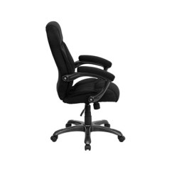 Microfiber Office Chair Fur Cover Flash Furniture High Back Black Upholstered Contemporary Item Thumb