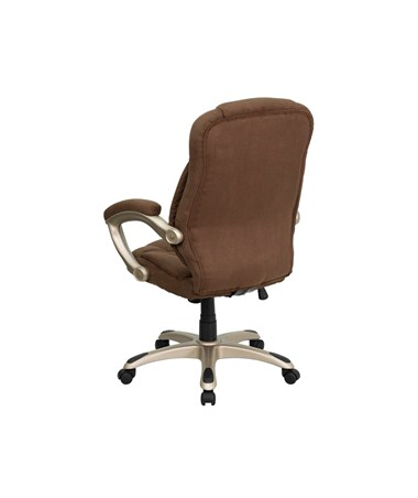 microfiber office chair rocking chairs atlanta flash furniture high back brown upholstered contemporary go 725 bn gg flfgo