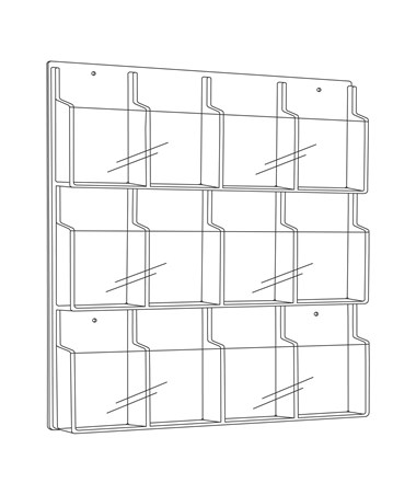 Safco Reveal 12 Booklet Display Clear Tiger Supplies