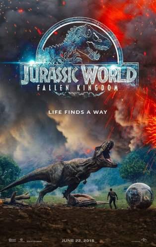 Hasil gambar untuk Jurassic World : Fallen Kingdom 2018 poster