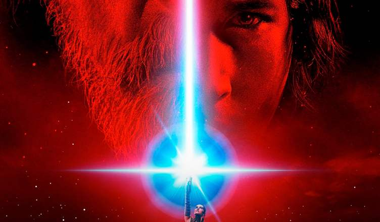 "Poster for the movie ""Star Wars: Os Últimos Jedi"""