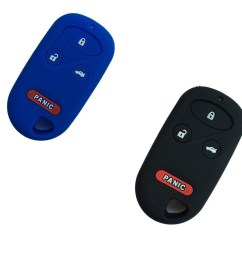 new black and blue silicone skin protect 4 buttons key fob cover bag holder for honda [ 1050 x 1050 Pixel ]