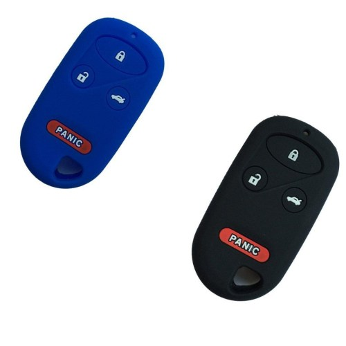 small resolution of new black and blue silicone skin protect 4 buttons key fob cover bag holder for honda