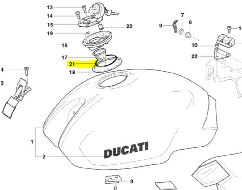 Online Store: Ducati Oem Replacement Gas Fuel Cap O-Ring