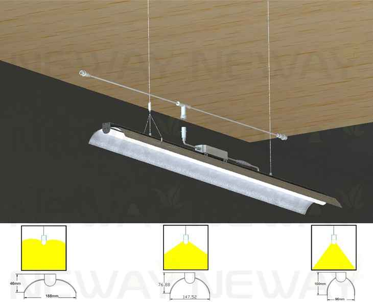 10v Dimming Wiring Diagram 24w 60w Angle Adjustable Suspended Fluorescent Linear