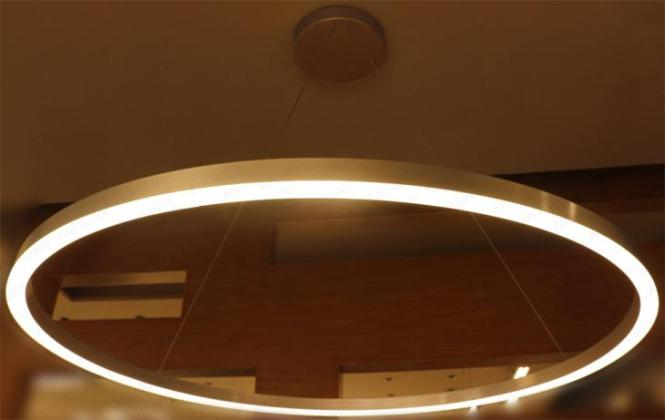 Large Ring Led Suspended Pendant Light Chandelier Lamp Ceiling Fixture Round Lights Surface Mounted Hanging