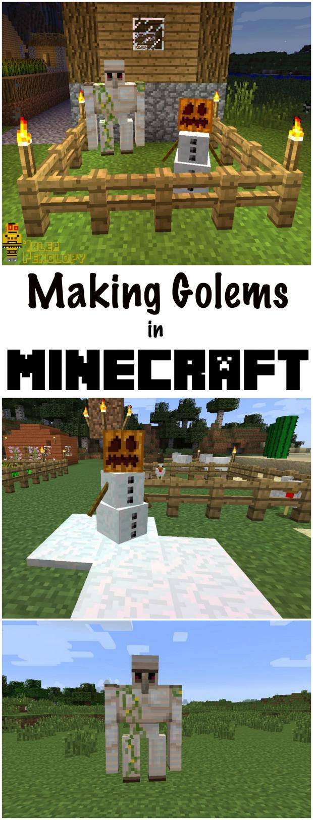 Comment Faire Un Golem De Fer : comment, faire, golem, Fabrication, Golems, Minecraft, Tubefr.com