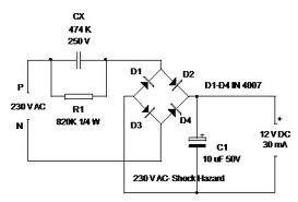 Transformateur moins d'alimentation 12V sur ampoule LED