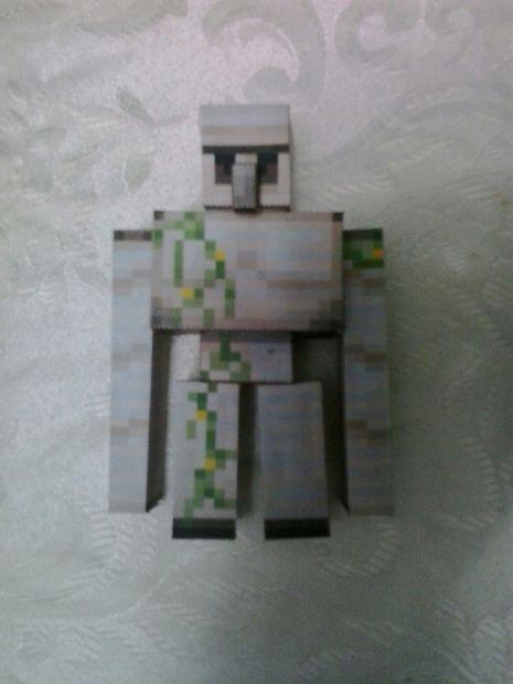 Comment Faire Un Golem De Fer : comment, faire, golem, Minecraft, Golem, Papercraft, Tubefr.com