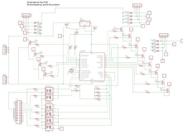 Pilote de Port parallèle 3 Axis CNC, Steppers Opto-isolée
