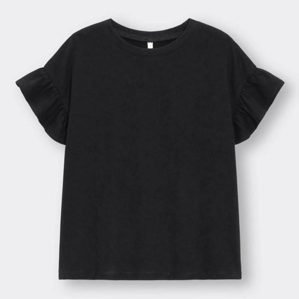 GIRLSフリルT(半袖)-BLACK
