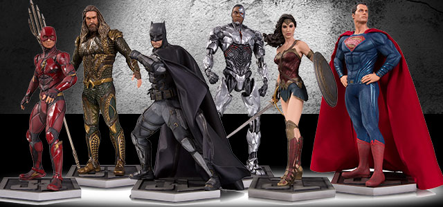 Justice League Movie Statues