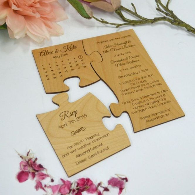 Cute 15 Jigsaw Puzzle Wedding Card Ideas That Are Way Too