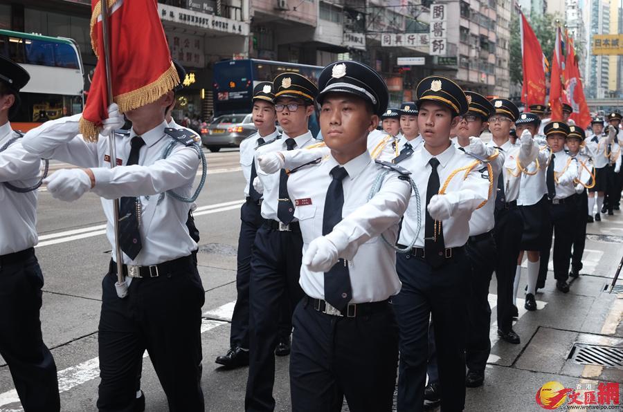 圖集|千名制服團隊青少年匯操巡遊 - 香港文匯網