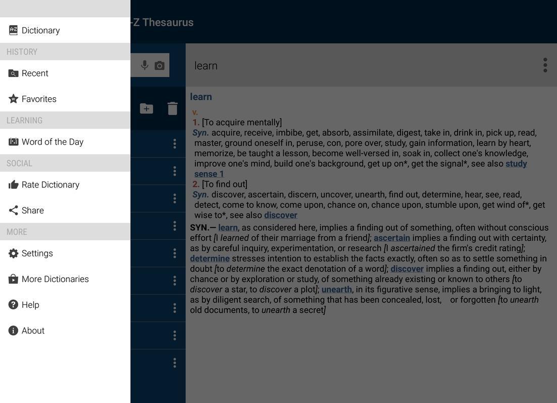 Websters Thesaurus APK Baixar  Grtis Livros e