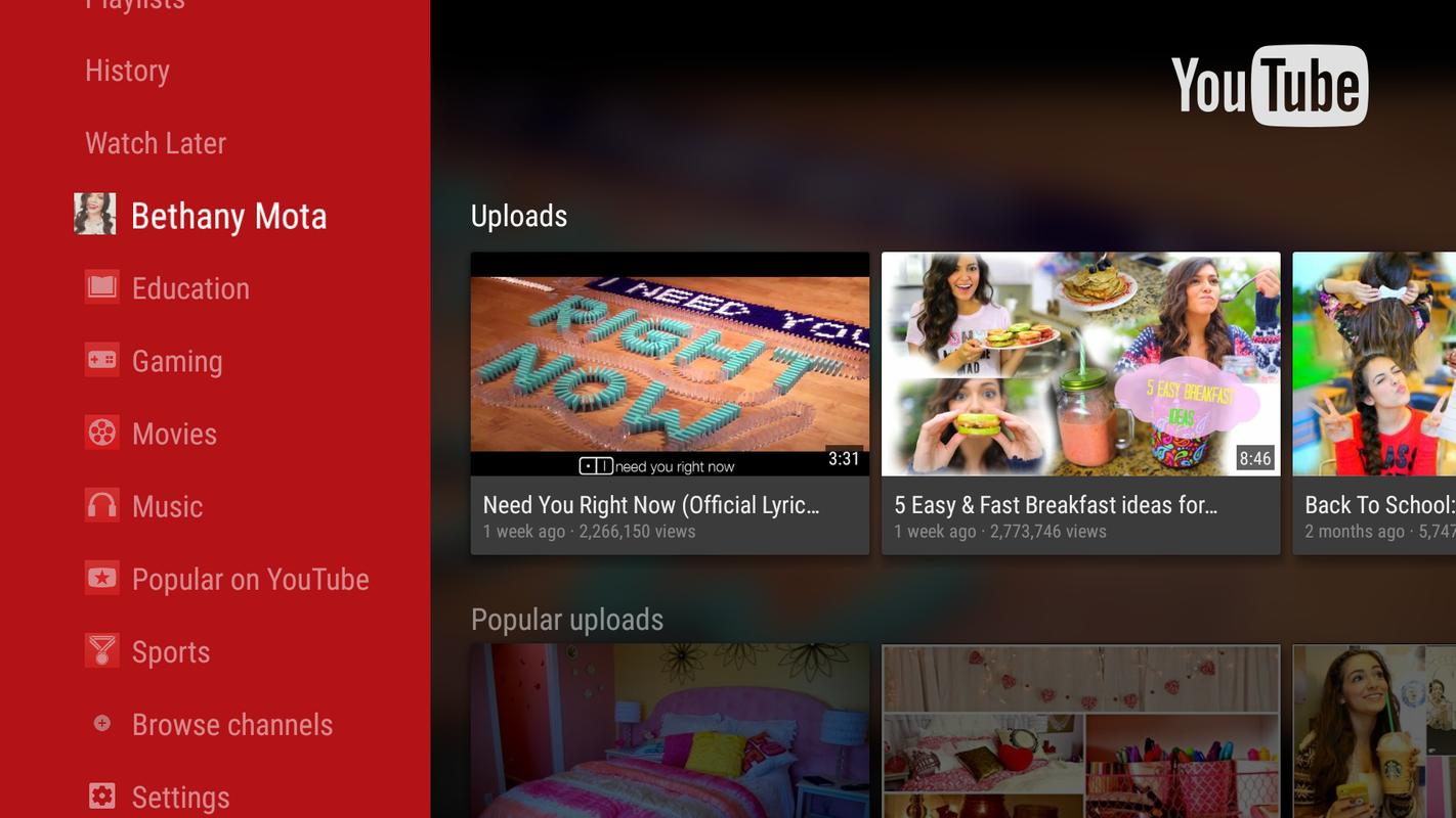YouTube for Android TV APK Download - Free Entertainment APP for Android | APKPure.com