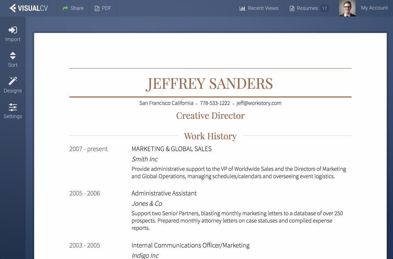 download apk visualcv resume builder