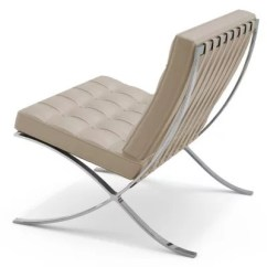 Barcelona Chair Leather Teen Room Knoll Yliving Com Shown In Volo Parchment