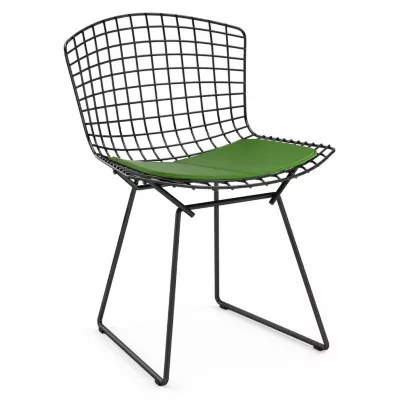 bertoia side chair stand test pics knoll with seat cushionand outdoor yliving com shown in vinyl lime cushion black powder coat base