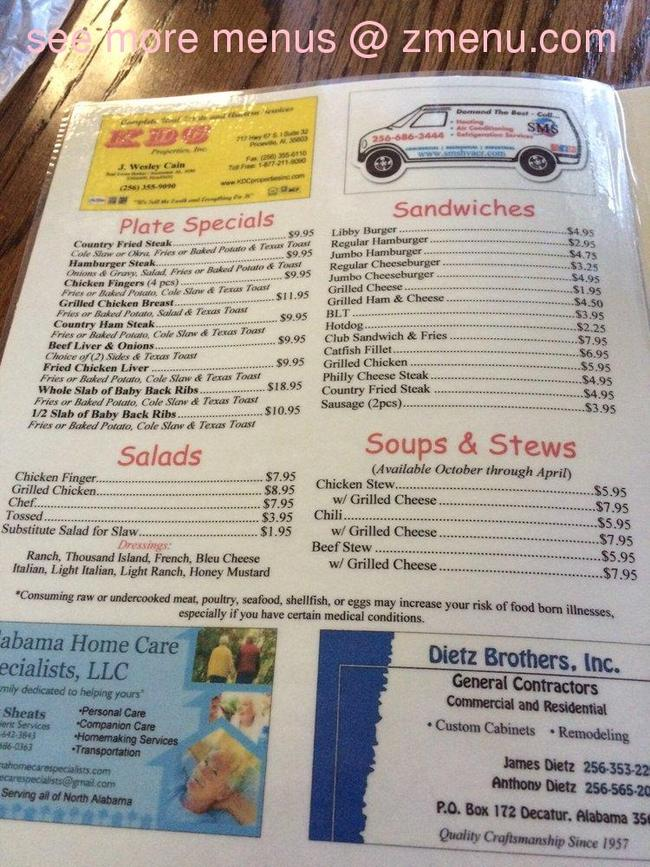 Online Menu Of Libby S Catfish Amp Diner Restaurant