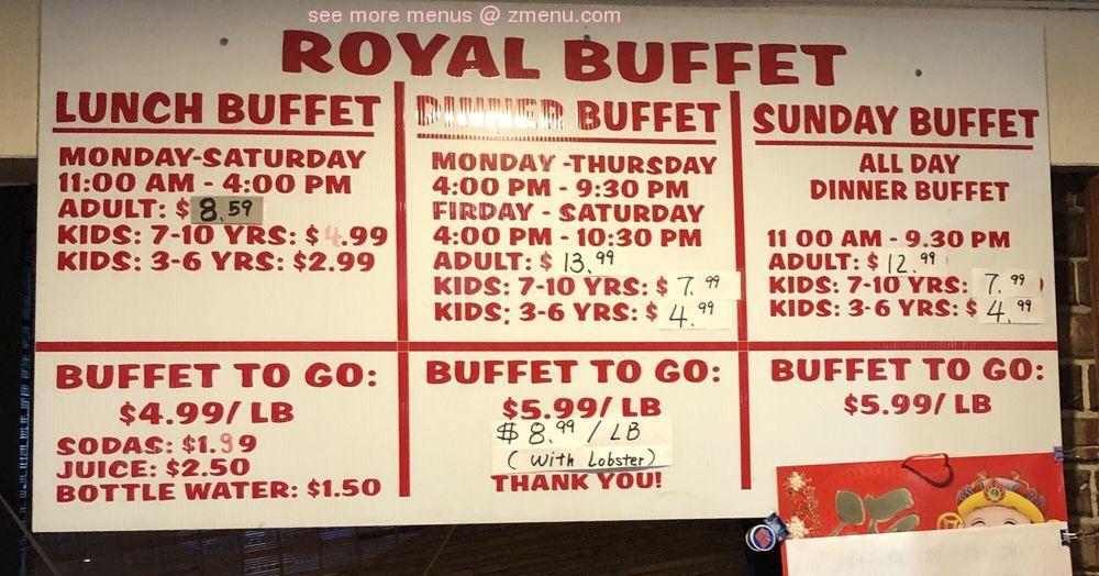 Online Menu of Royal Buffet Restaurant. Jacksonville. Florida. 32205 - Zmenu
