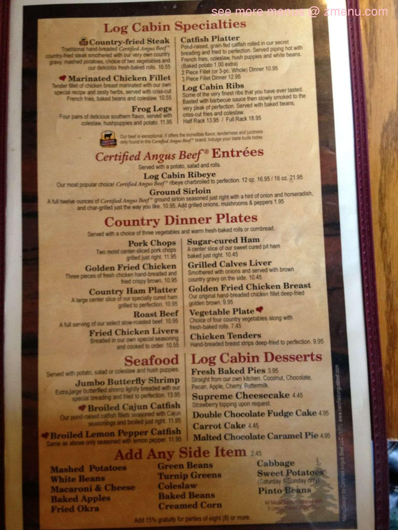 Soul Food Menu Prices