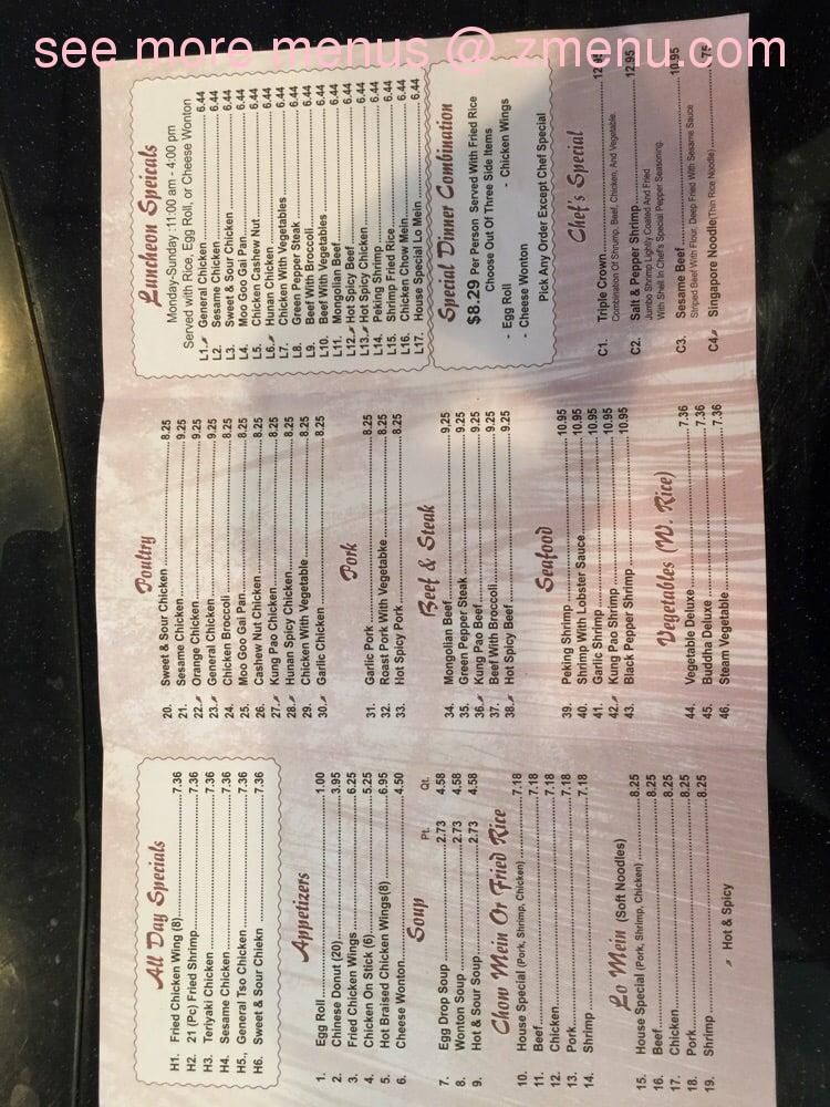Chilis Greenwood Sc Menu
