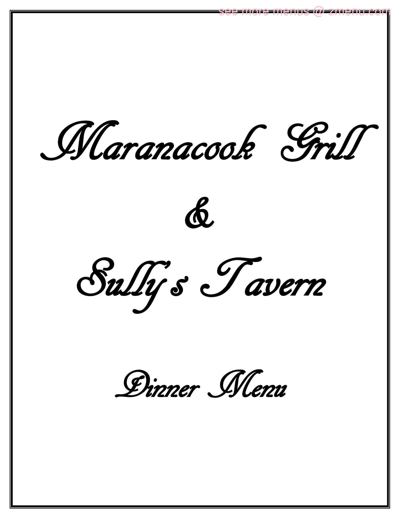 Online Menu of Sullys Tavern Restaurant, Winthrop, Maine