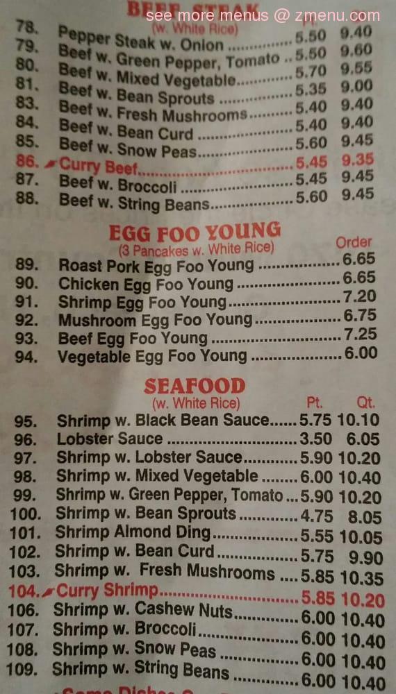 Online Menu of Wing Wah Restaurant Restaurant. Centereach. New York. 11720 - Zmenu