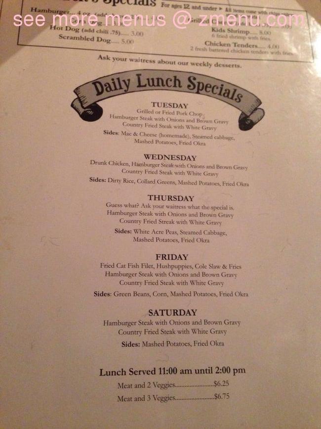 Online Menu Of Lukes Pub Amp Steak House Restaurant