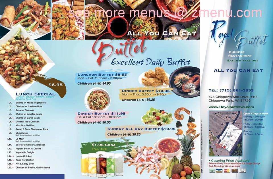 Online Menu of Royal Buffet Restaurant. Chippewa Falls. Wisconsin. 54729 - Zmenu
