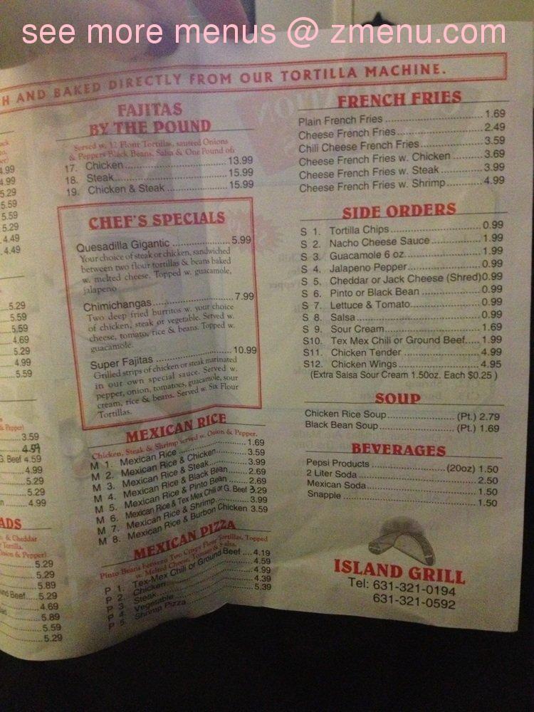 Online Menu of Island Grill Restaurant West Babylon New