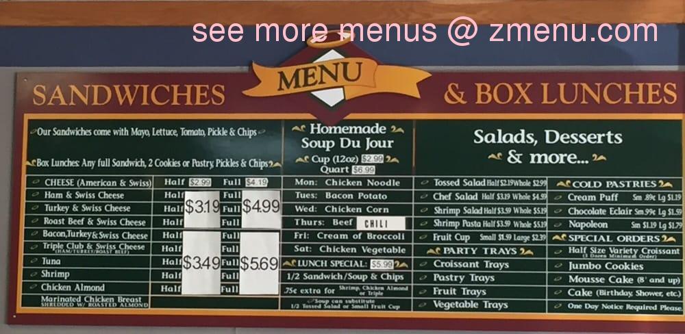 Online Menu of Heavenly Croissants Restaurant Fort Walton
