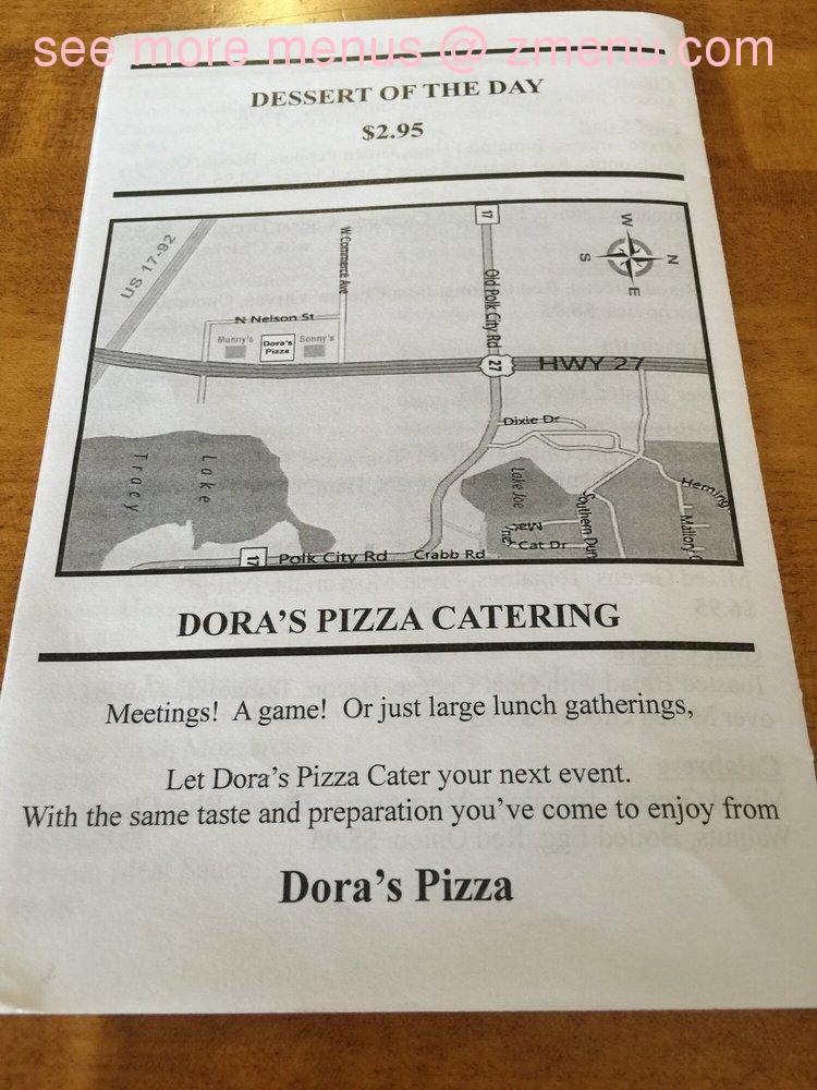 Online Menu of Doras Pizza Restaurant Haines City