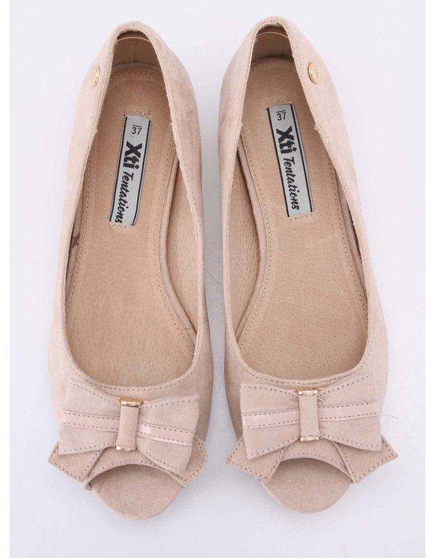 5ed4fa97b84 Béžové boty na klínku s otevřenou špičkou Xti
