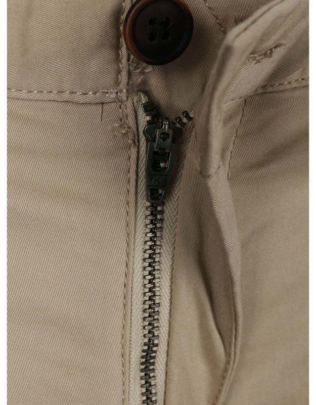 5c1e43ee856 Béžové slim kalhoty s páskem Selected Yard