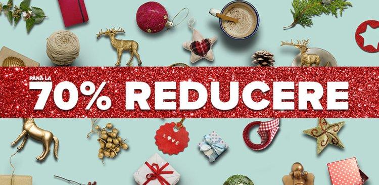 Decorațiuni de Crăciun: Până la 70% reducere