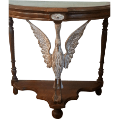 Vintage Lane Sofa Table Mart Waco Carved Figural Swan French Style Console