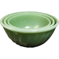 Vintage Fire-King Jadite Green Swirl Nesting Mixing Bowls ...